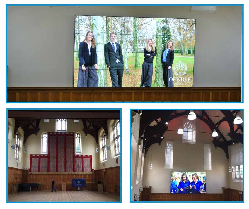 Video Wall at Oundle School